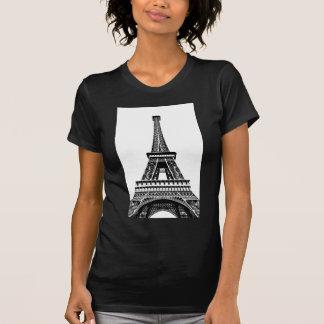 Camiseta Trabalhos de arte brancos pretos da arte de Paris