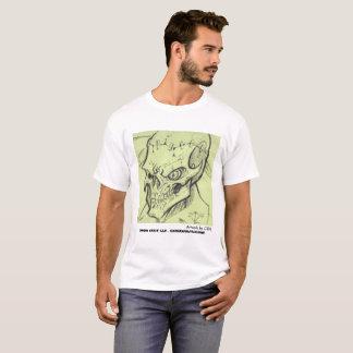 Camiseta Trabalhos de arte do crânio por CDL