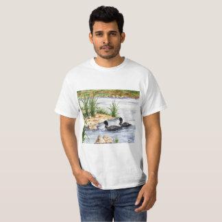 Camiseta Trabalhos de arte do Watercolour impressos em uma