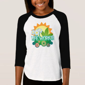 Camiseta Trabalhos duma vida! T-shirt do raglan das meninas