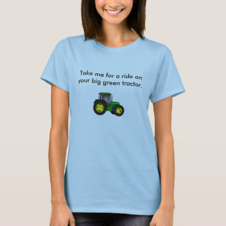Camiseta tractor.jpg verde grande, toma-me para um passeio