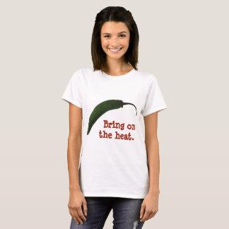 Camiseta Traga no calor - amante picante da comida