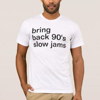 Camiseta traga para trás aos anos 90 doces lentos