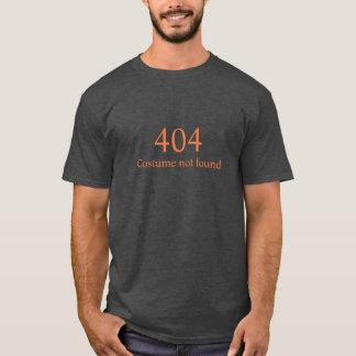 Camiseta Traje divertido o Dia das Bruxas não encontrado de