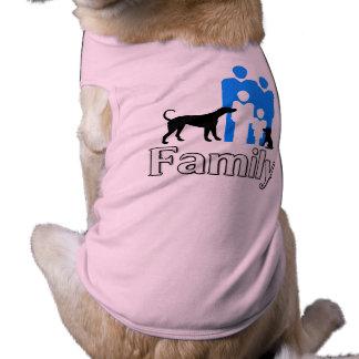Camiseta Traje do cão da família