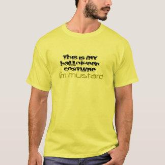 Camiseta Traje do Dia das Bruxas - mostarda