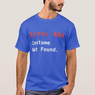 Camiseta Traje não encontrado, geek do erro 404 do Anti-Dia