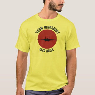 Camiseta Transforme dinossauros no ruído!