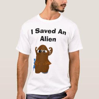 Camiseta transparente, eu salvar uma alienígena