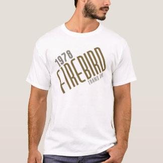 Camiseta Transporte Am de 1978 FIREBIRD - ouro poli