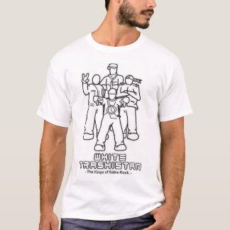 Camiseta Trashsitan branco - reis da rocha da sátira