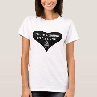 Camiseta Trate-me um bolo para fazer-me o t-shirt do