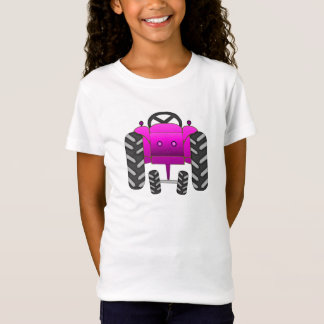 Camiseta Trator cor-de-rosa