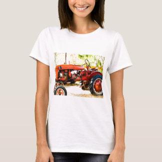 Camiseta Trator do vermelho do vintage