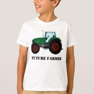 Camiseta Trator futuro do verde do fazendeiro