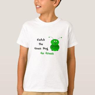Camiseta Trave o inseto verde