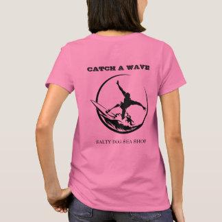 Camiseta Trave um t-shirt das mulheres do gajo do surfista