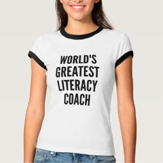 Camiseta Treinador da instrução dos mundos o grande