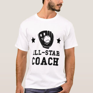 Camiseta Treinador do softball de All Star