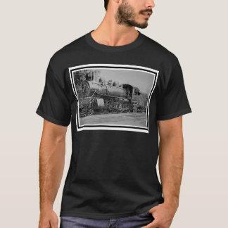 Camiseta Trem do motor de vapor da estrada de ferro do