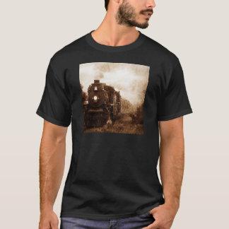 Camiseta Trem do vapor da antiguidade da estrada de ferro