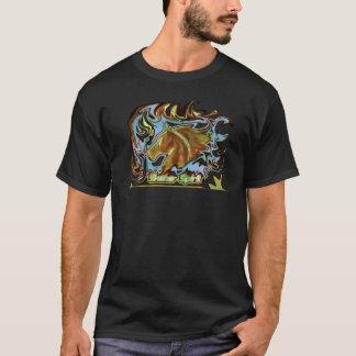 Camiseta Trendy alpargata em preto com logótipo