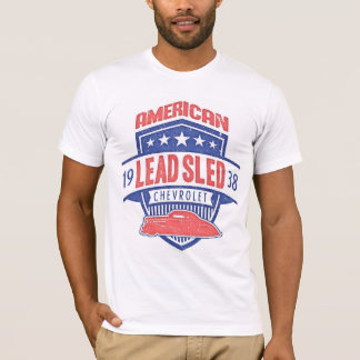 Camiseta Trenó 1938 AMERICANO da ligação de Chevrolet da