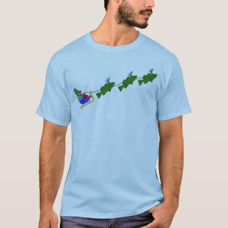 Camiseta Trenó do Natal da pesca da perda - engraçado