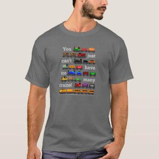 Camiseta Trens demais! rotulação branca