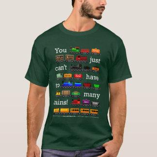 Camiseta Trens demais (tipo branco)