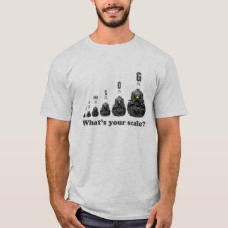 Camiseta Trens do modelo - que é sua escala? Motores de