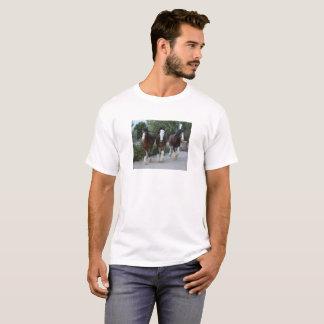 Camiseta Três cavalos de Clydesdale