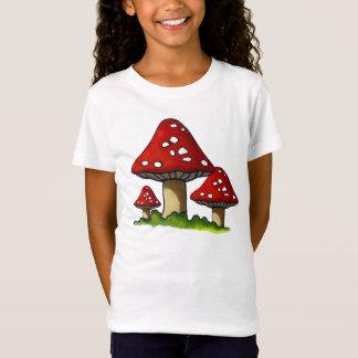 Camiseta Três cogumelos, Toadstools: Arte original