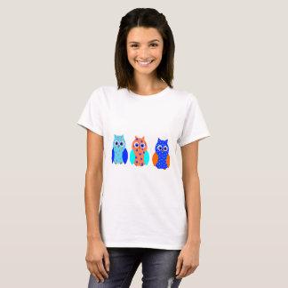 Camiseta Três corujas bonitos