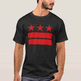Camiseta Três estrelas e dois bares de t-shirt preto