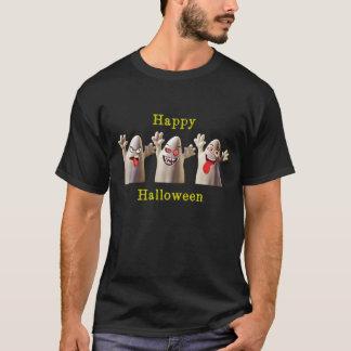 Camiseta Três fantasmas felizes bonitos do Dia das Bruxas