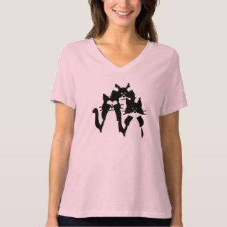 Camiseta Três gatinhos sábios em um grupo