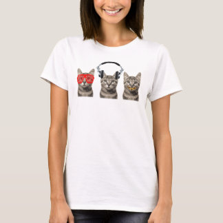 Camiseta Três gatos sábios