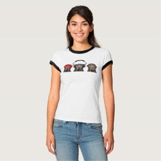 Camiseta Três Labradors sábio