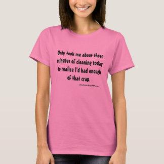 Camiseta Três minutos da limpeza