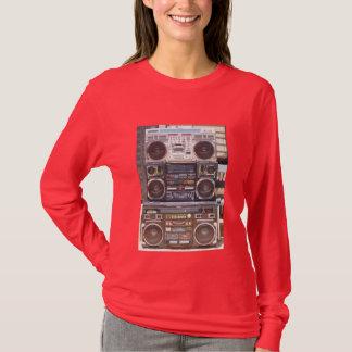 Camiseta Três velha escola Boomboxes