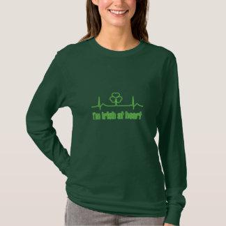 Camiseta Trevo EKG do Dia de São Patrício - eu sou irlandês