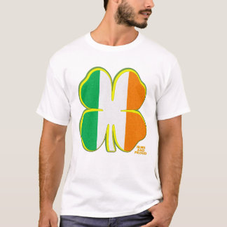 Camiseta Trevo irlandês da folha da Tri cor quatro
