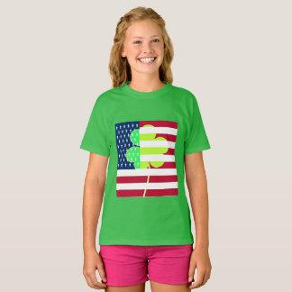 Camiseta Trevo irlandês St Patrick do trevo da bandeira