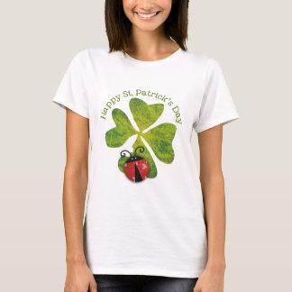 Camiseta trevo & joaninhas do dia de St Patrick