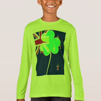 Camiseta Trevo St Patrick do trevo da bandeira de Nova