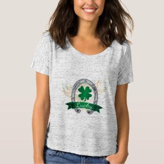 Camiseta Trevos afortunados de sentimento do trevo