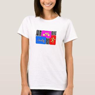 Camiseta TRI t-shirt do funcionamento da bicicleta da