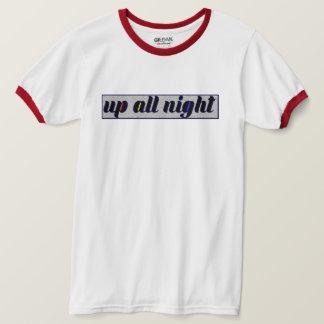 Camiseta Tri toda a noite campainha ascendente estática