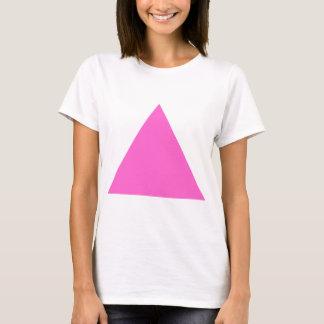 Camiseta Triângulo cor-de-rosa